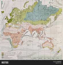 Africa And Europe Map by Climate And Streams In Europe Asia Africa And Australia Old Map