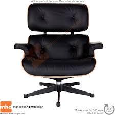 Manhattan Leather Chair Eames Lounge Chair Replica White With A Black Base Manhattan