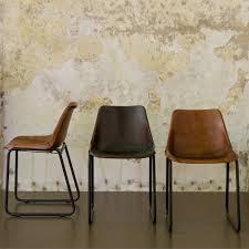 Vintage Leather Chairs Stoel Retro Leer Combinatie Van Materialen En Vormen Leer En