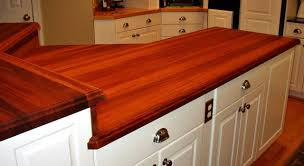 kitchen elegant wood countertop design with butcher block
