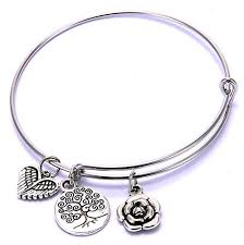 bangle bracelet charm silver images Buy youbella oxidized silver charm bracelet for women online at jpg