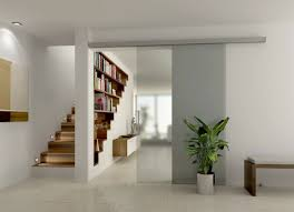 interior tips staircase with unique bookshelves and living room