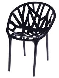 Stackable Outdoor Black Accent Chair Set Of 2 Mm Pc 069 Black