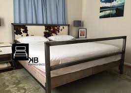 unique industrial modern steel bed kb furnishings modern