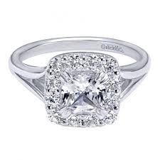 cushion ring 1 50cttw cushion cut halo style diamond engagement ring with 1ct