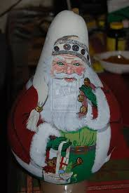 454 best painted gourds santa 2 images on pinterest gourds