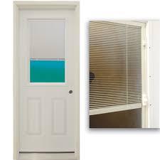 30 Exterior Door With Window 30 1 2 Lite Exterior Steel Door Unit With Mini Blinds Between The