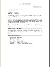 Fresher Resume Sample by Fresher Resume Examples Electronics And Communication Engineering