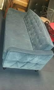 Vintage Tufted Sofa by 9 By Novogratz Vintage Tufted Sofa Sleeper Ii Navy Velour For Sale