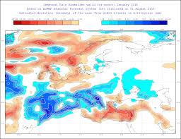 Europe Temperature Map by Effis Long Term Seasonal Forecast Of Temperature And Rainfall