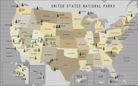 Capitol Reef National Park Map Buy Us National Parks Map