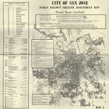 San Jose District Map by Calisphere 1964 City Of San Jose Public Fallout Shelter Map