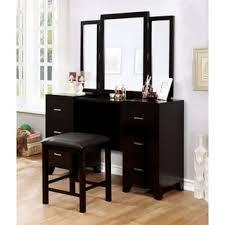 Vanity And Stool Set Furniture Of America Laurel Multi Storage Vanity Table With Mirror