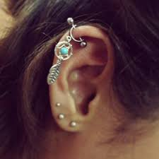 awesome cartilage earrings 52 cartilage earring jewelry 25 exles of cartilage earrings