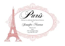 Sweet 16 Invitations Cards Best Sweet 16 Paris Invitations 35 For Card Invitation Ideas With