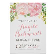 Bridal Shower Signs Bridal Shower Sign Gifts On Zazzle