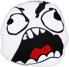 Meme Smiley - moodrush fu face rage guy pillow meme cushion fuuu smiley