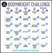 Best Challenge The 30 Day Bodyweight Workout Challenge That Will Burn Your Best