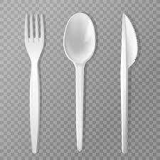 ustensile de cuisine en plastique fourchette jetable couteau et cuillère ustensile de cuisine en