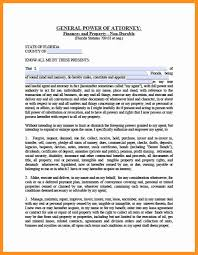 Financial Power Of Attorney Template by 8 General Power Of Attorney Form Florida Scholarship Letter