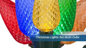 C9 Christmas Lights Lowes by Christmas Lights Set Multi Color Youtube