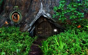 hobbit house in the forest full hd bakgrund and bakgrund