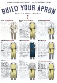 apron sizing guide butcher and baker