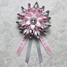 how to make a baby shower corsage to be corsage to be pin its a girl baby shower