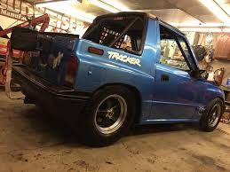 chevy tracker 1995 geo tracker with a twin turbo v8 engine swap depot