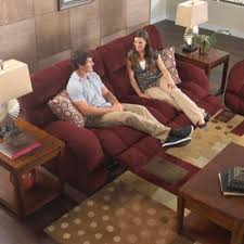 Catnapper Recliner Sofa Catnapper Siesta Lay Flat Reclining Sofa In Wine With Power Option