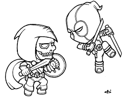 chibi deadpool coloring pages chibi superheroes colouring