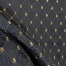 Diamond Upholstery Black On Black Diamond Upholstery Fabric W Gold Daisies Weston