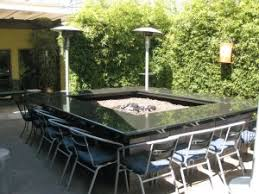 Patio Table With Firepit Table With Pit In Middle Patio Design Ideas 17