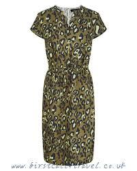 at the price jaeger women linen animal print dress linen green