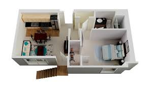 single room house plans all utilizing compact space features one bedroom house plans 70164
