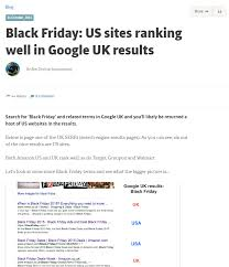 do target do online black friday sale econsultancy black friday us sites ranking well in google uk