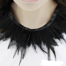black feather hand me collar cape shawls wrap fringe party evening