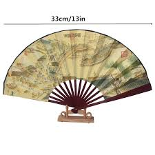 decorative fan silk cloth sided design present bamboo fan