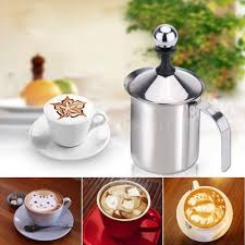 400ml stainless steel double mesh coffee milk frother for coffe