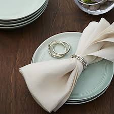 how to set a table with napkin rings napkin rings silver gold wood crate and barrel