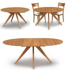 Expandable Round Dining Room Tables Small Round Brown Stained Pine Wood Glass Dining Table Extension