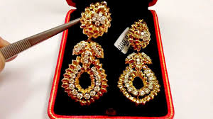 heavy diamond earrings heavy gold and diamond earrings