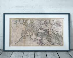 Map Home Decor Europe Map Etsy