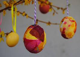 blown egg ornaments blown easter eggs the mod podge way beatnik kids
