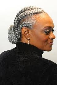 hair braiding styles for black women over 40 silver grey cornrows natural hair style braids pinterest