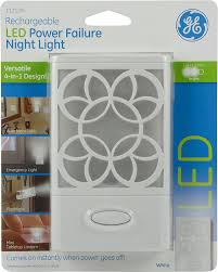 ge led night light ge rechargeable led power failure night light amazon com