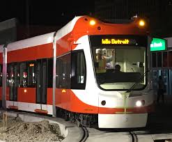 detroit thanksgiving day parade tickets first m 1 rail streetcar arrives in detroit crain u0027s detroit business