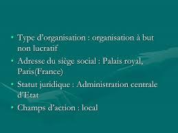 but siege social type d organisation organisation à but non lucratif ppt