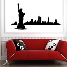 Home Decor New York by New York Skyline Modern City Picture Wall Decals Vinyl Stickers