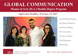 global communication m a double degree program of